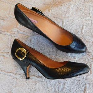 Samanta black round toe heels size 13
